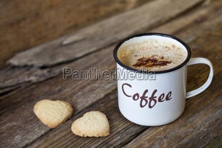 tazza di caffe smaltata