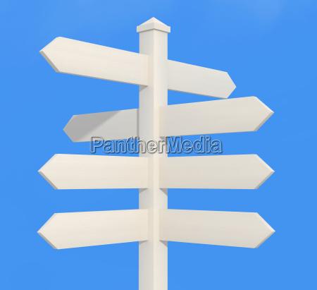bianco segno direzionale post