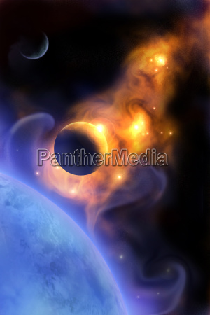 spazio universo cosmo scienza tramonto alba