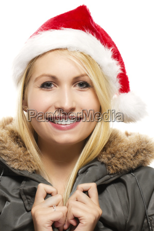 laughing beautiful blonde woman in a