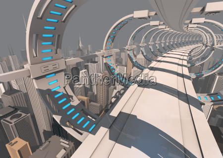 ponte futuristico della citta