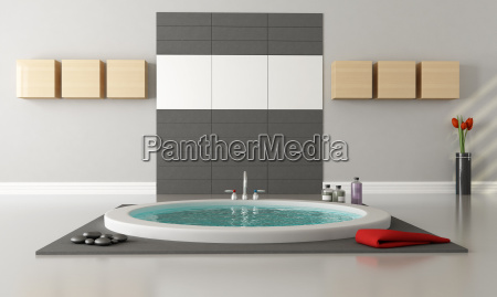 arredamento stanza interno muro asciugamano vasca