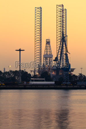 industrial view drilling rig by