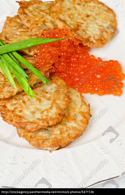frittelle, con, caviale, rosso - 5471136