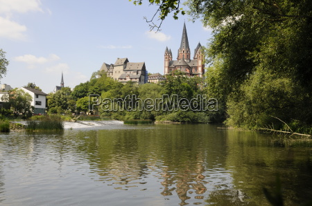 lahn e la cattedrale nel limburgo