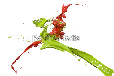spruzzi di vernice in verde e