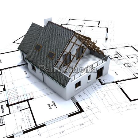casa costruzione composizione progettazione concetto modello