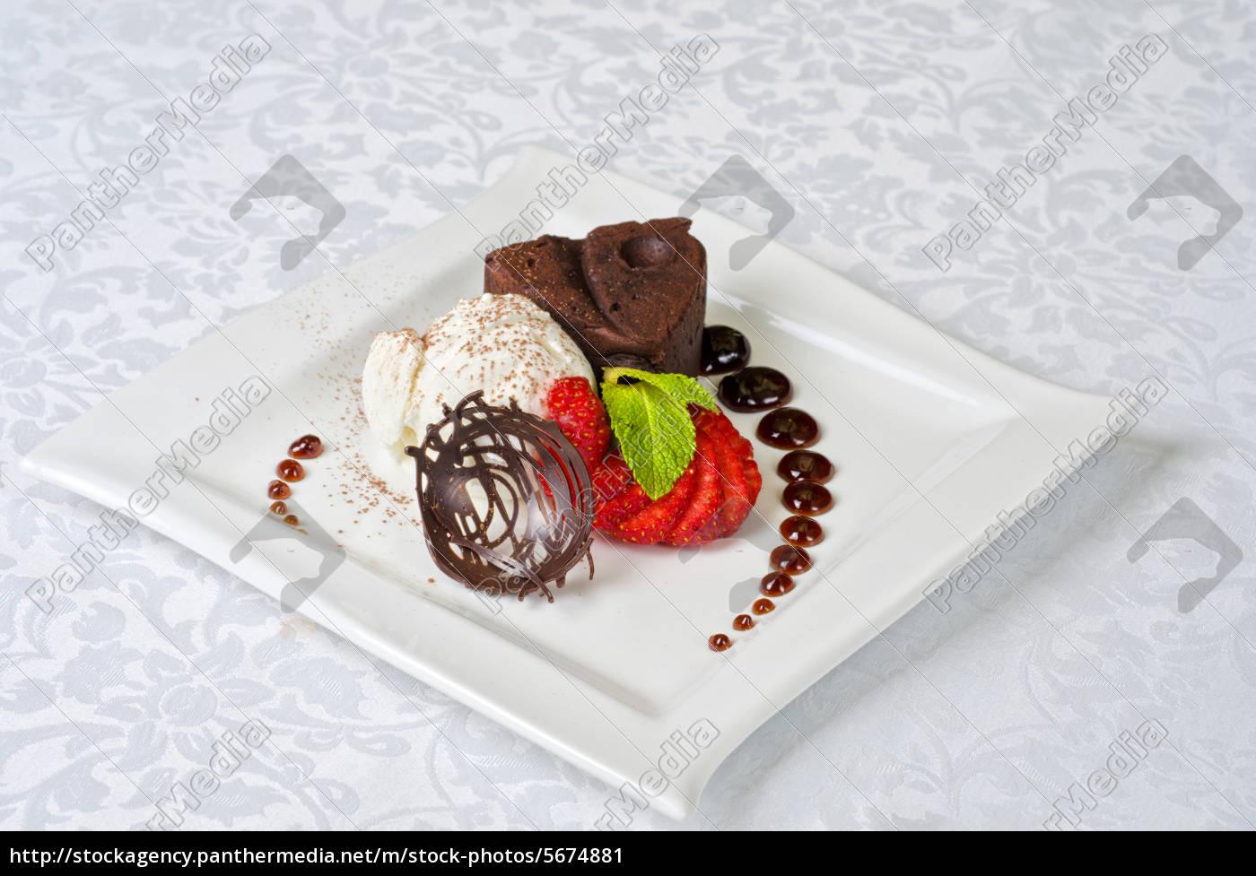 flan, al, cioccolato - 5674881