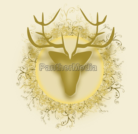 vector stag with background