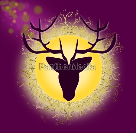 graphic stag with background