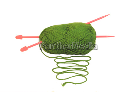 palla verde di lana