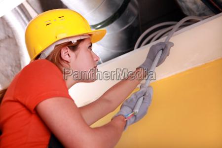 femminile cappello difficile femmina cablaggio elettricista