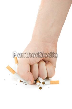 sigaretta gesto pericolo dito salute esistere
