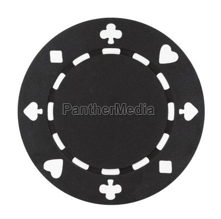 chip di poker nero