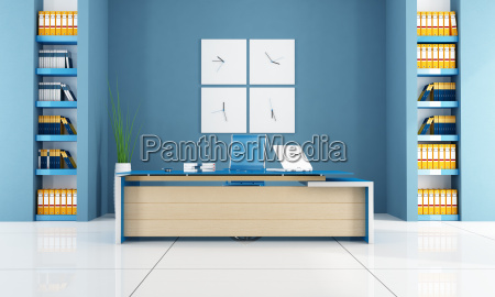 blu ufficio contemporaneo