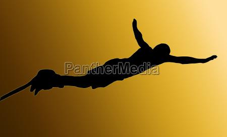 indietro doro maschio bungee jumper