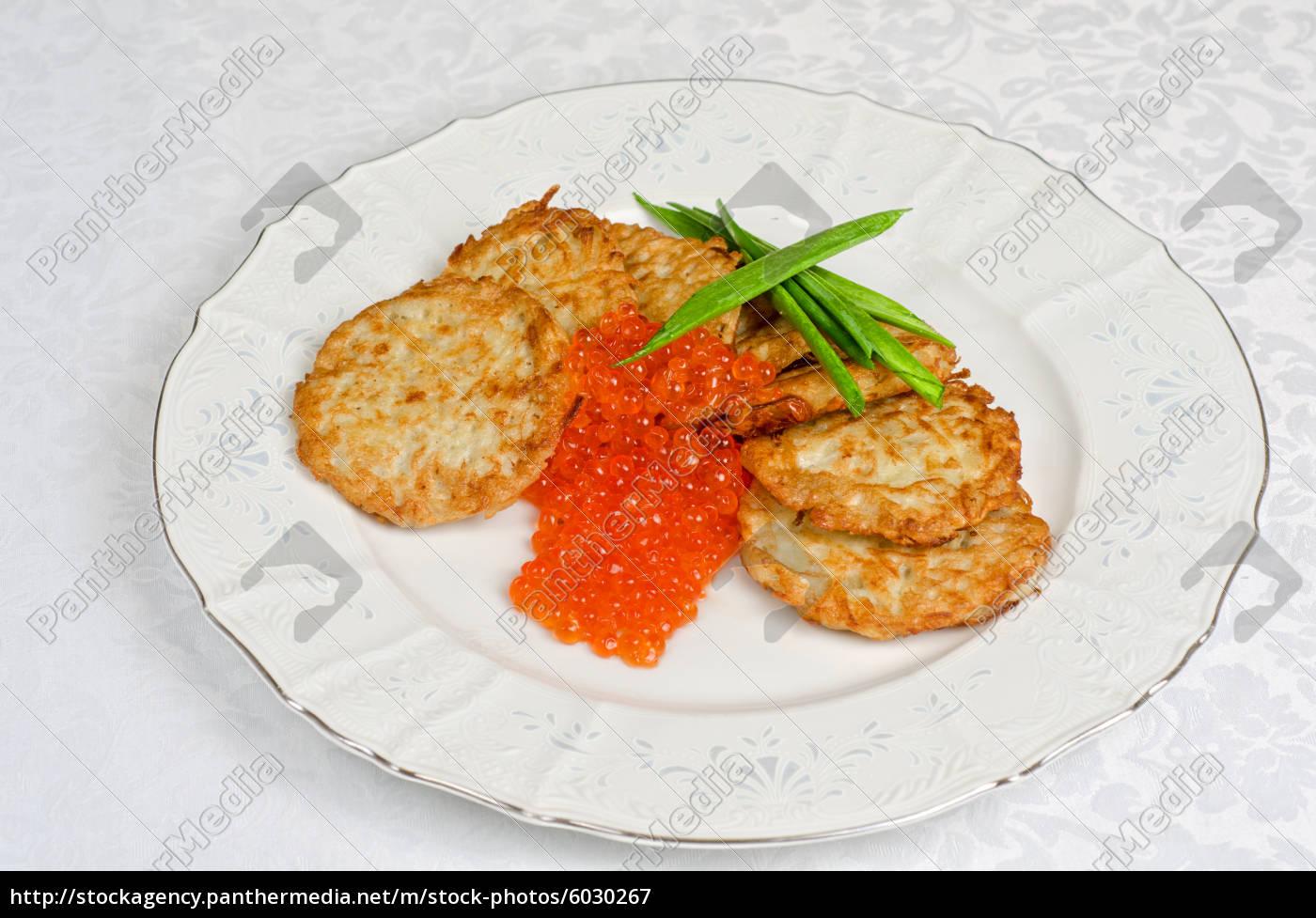 frittelle, con, caviale, rosso - 6030267