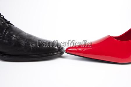 signore e lacci delle scarpe da