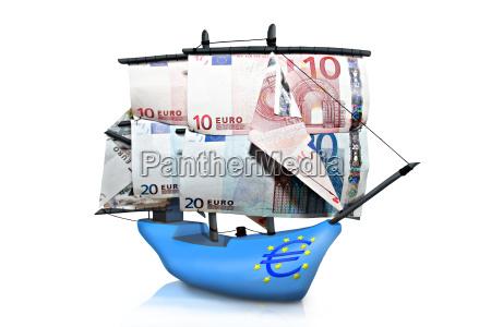 euro banconota banconota euro barca a