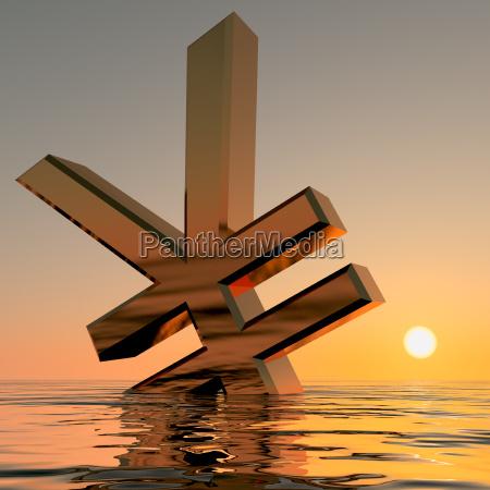 yen affondamento mostrando depressione recessione e