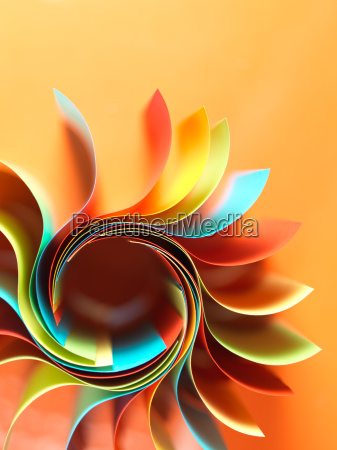 struttura di carta colorata a forma