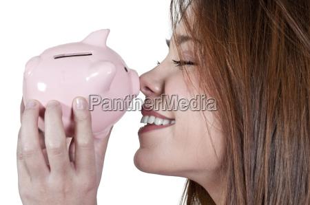 donna banca finanza conto porcellino finanziare