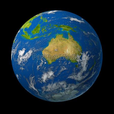 australia on earth globo