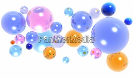 palline di vetro 3d o sfere