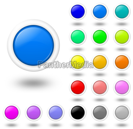 web colored buttons with shadow