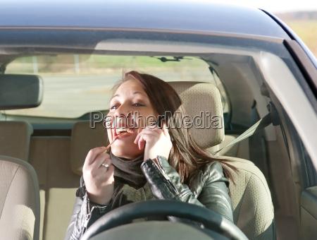 donna telefono cellulare bello bella auto
