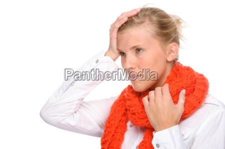 donna con il freddo