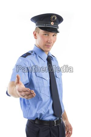 polizia in uniforme