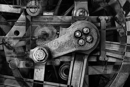 industria macchinario metallo astratto astrarre automa