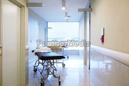 hospital interior hallway