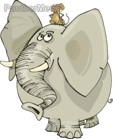 elefante con il mouse