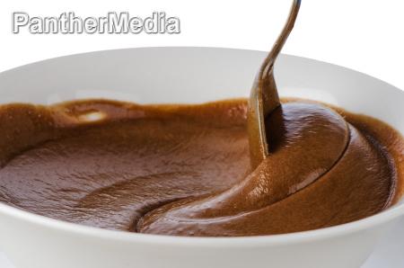 cibo liquido dolce primo piano marrone