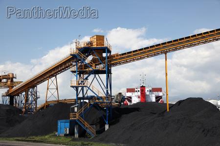 industria industriale nero porto trasporto carbone