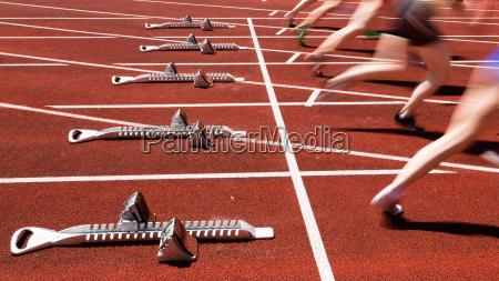 inizio sprint in motion blur