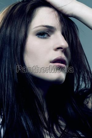 donna bello bella sentimenti marrone ritratto
