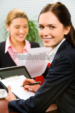 confident secretary