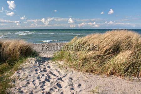 via alla spiaggia da dune sul