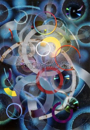 anello ruota pittura disco cerchio collage