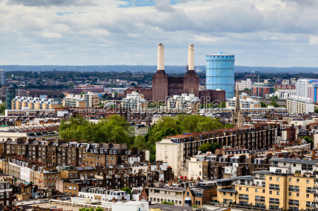 aerial view from westminster cathedral on