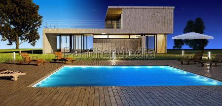 casa giorno e notte moderno