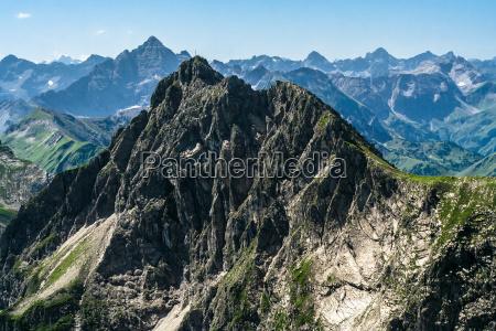 alpi escursione gita vertice sguardo vista