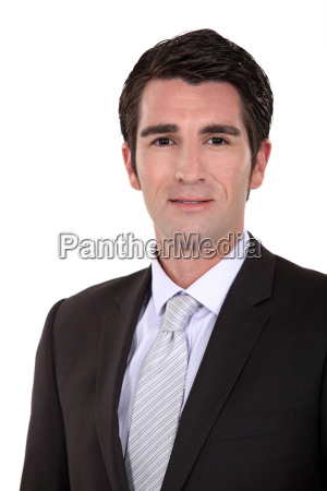 portrait of young executive