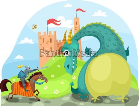 drago e cavaliere