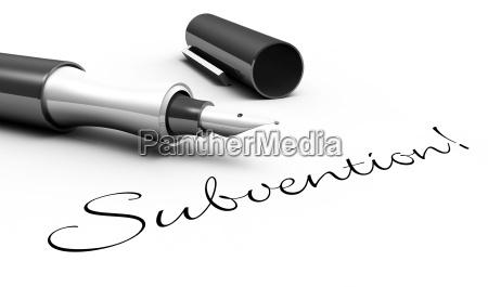 sovvenzione f concetto di penna