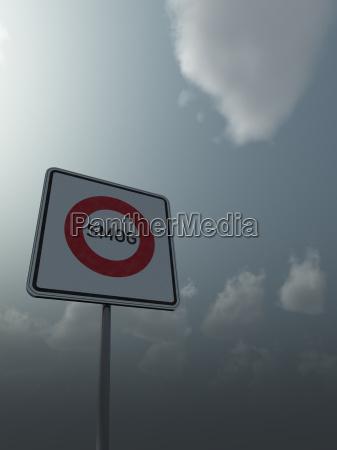 segnale fumo nebbia smog inquinamento cartello