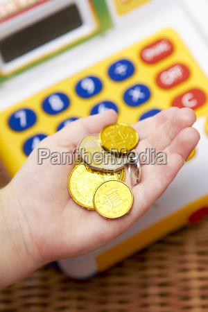 moneta bambino registratore di cassa fino